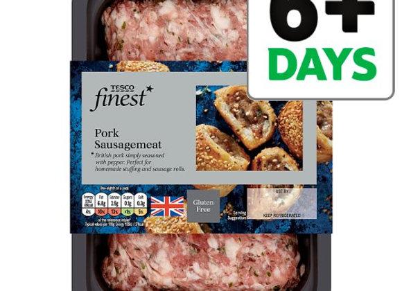 Tesco Finest British Pork Sausage Meat 350G