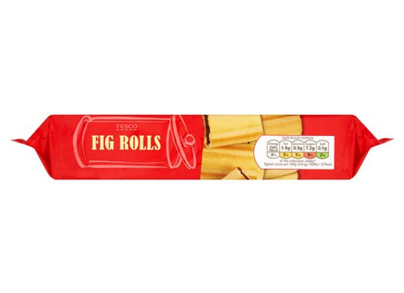 Tesco Fig Roll Biscuits 200G