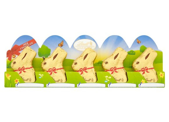 Lindt Gold Milk Chocolate Easter Bunny 5 X 10G
