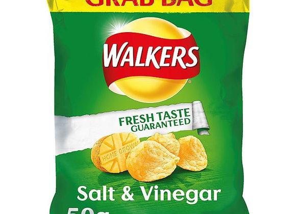 Bulk Buy Walkers Salt & Vinegar Crisps 32 bags