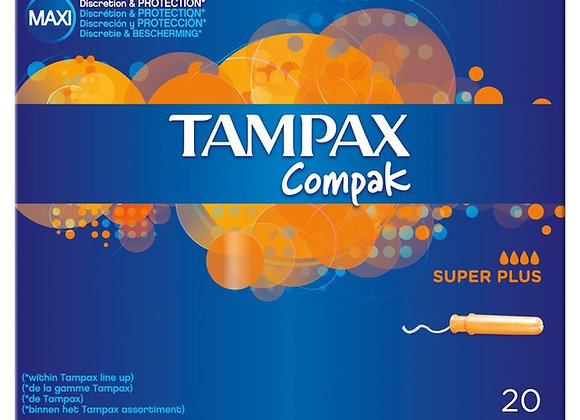 Tampax Compak Super Plus Tampons Applicator 20