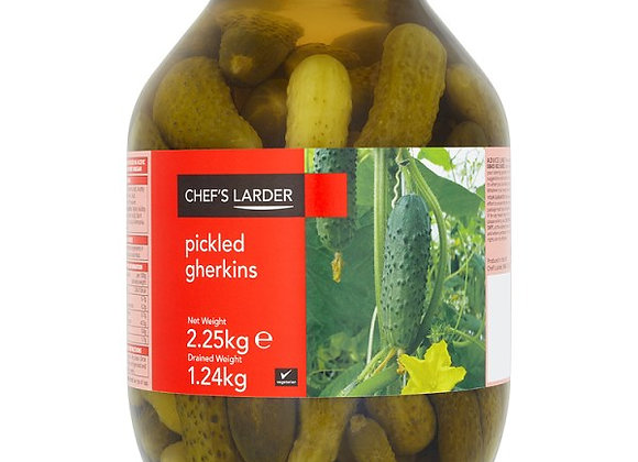 Chef's Larder Pickled Gherkins 2.25kg (Drained Weight 1.24kg)