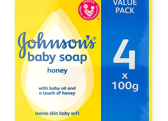 JOHNSON'S® Baby Soap Honey 4 x 100g