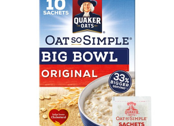 Quaker Oat So Simple Original Porridge  10 x 38.5g Sachets