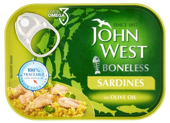 John West Boneless Sardines Olive Oil 95G