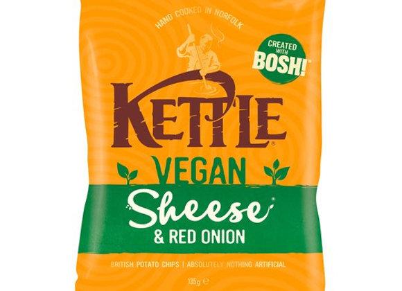 Kettle Crisps Vegan Sheese & Red Onion 135G
