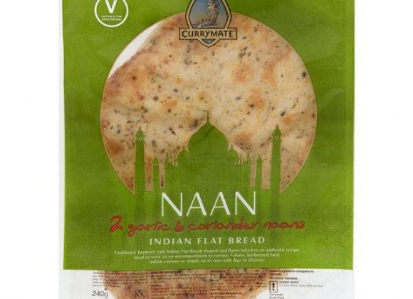 Garlic & Coriander Naans x 2