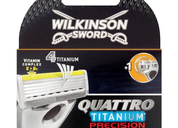 Wilkinson Sword Quattro Titanium Precision Razor Blades 4 Pack