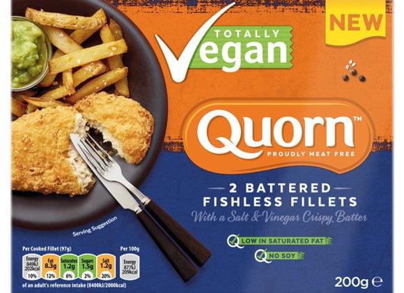 Quorn Fishless Fillets Salt And Vinegar 200G