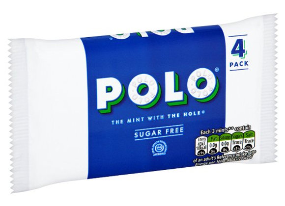 Polo Sugar Free Tube Multipack 4 X 33.4G