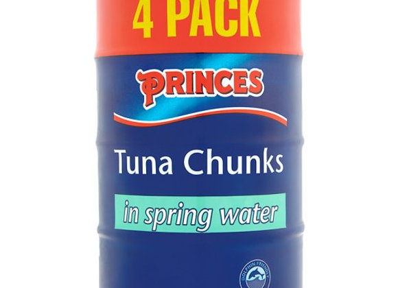 Princes Tuna Chunks  4 X 160g