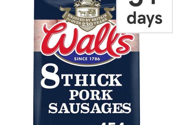 Walls Classic 8 Pork Sausages 454G