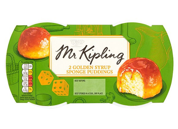 Mr Kipling Golden Syrup Sponge Puddings 2 x 95g