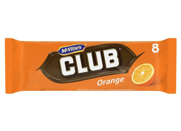 Mcvities Club Orange Chocolate Biscuit 8 Pack 176G