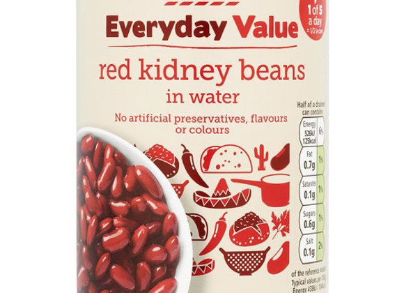 Tesco Everyday Value Red Kidney Beans In Water 400G