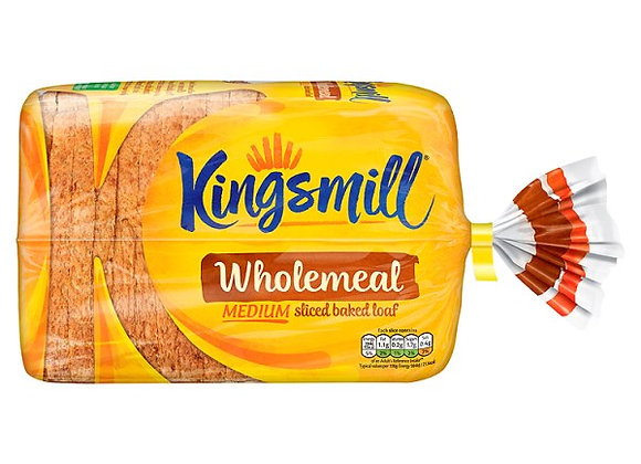 Kingsmill Wholemeal Medium Sliced Baked Loaf 800g