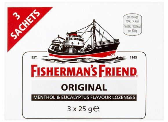 Fishermans Friend Strong Original 3 X 25g Pack