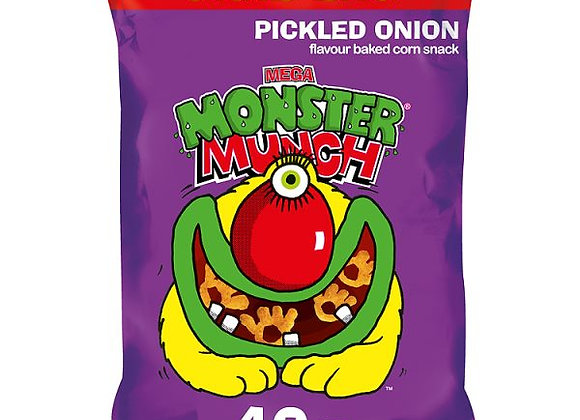 Bulk Buy 30 X Monster Munch Large 40g Grab Bags