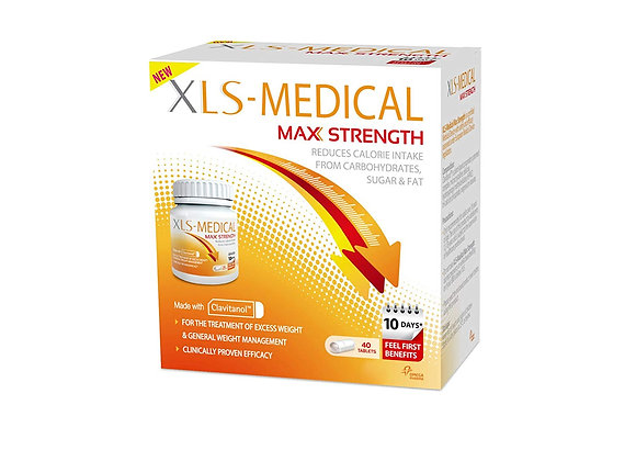 XLS-Medical Max Strength Diet Pills for Weight Loss, Pack of 40