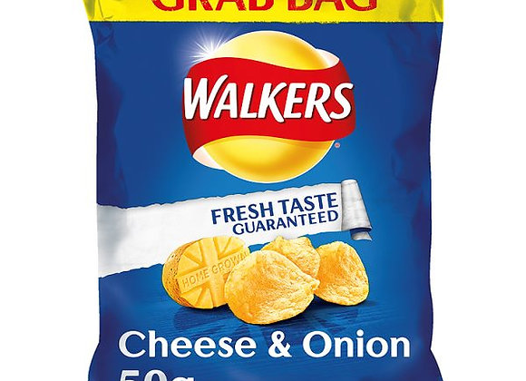 Bulk Buy Walkers Cheese & Onion Crisps 32 bags