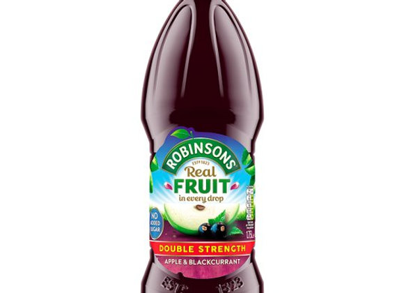 Robinsons Double Concentrate Blackcurrant And Apple No Added Sugar 1.75L
