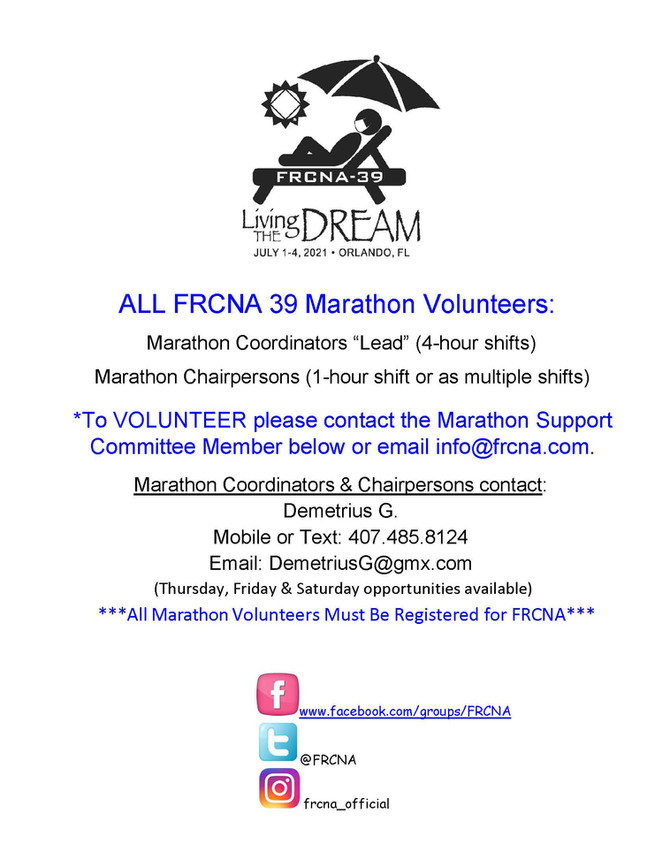 Marathon Chairpersons...here's your chance! Sign up now, spots are limited. 🤩