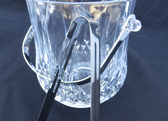 Glass Ice Bucket W/ Tongs