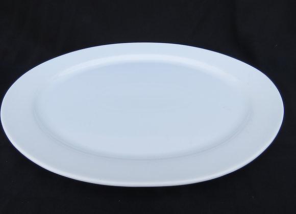 13- 1/2' Oval Narrow  Rim Platter