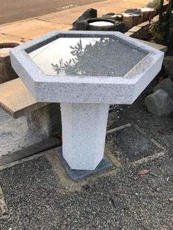 HEXAGONAL BIRD BATH