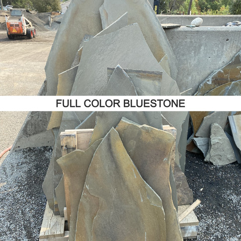 Piece sizes: 1 to 8 square feet.  Thickness: 3/4 to 1.25 inch Coverage: Approximately 150 square feet per ton
