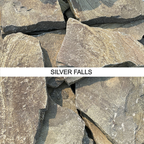 Piece sizes: 1 to 5 square feet  Thickness: 3/4 to 2 inch Coverage: Approximately 150 square feet per ton