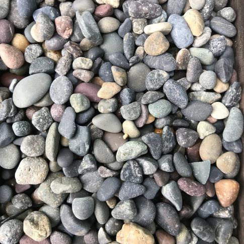 """1/4""""- 1/2"""" Mixed Mexican Beach Pebble"""
