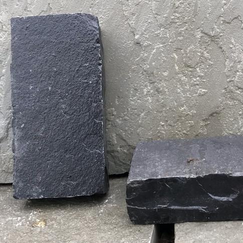 BLACK LIMESTONE PAVERS - CHISELED
