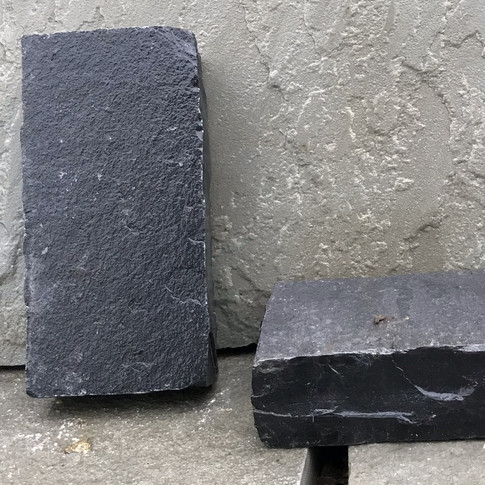 BLACK LIMESTONE PAVERS - CHISELED