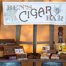 Meghan McCain and Ben Domenech Cigar Bar Sign