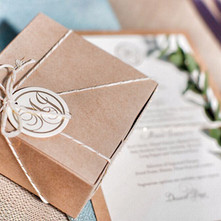 Monogram Design with Menus, Boxes and Tags