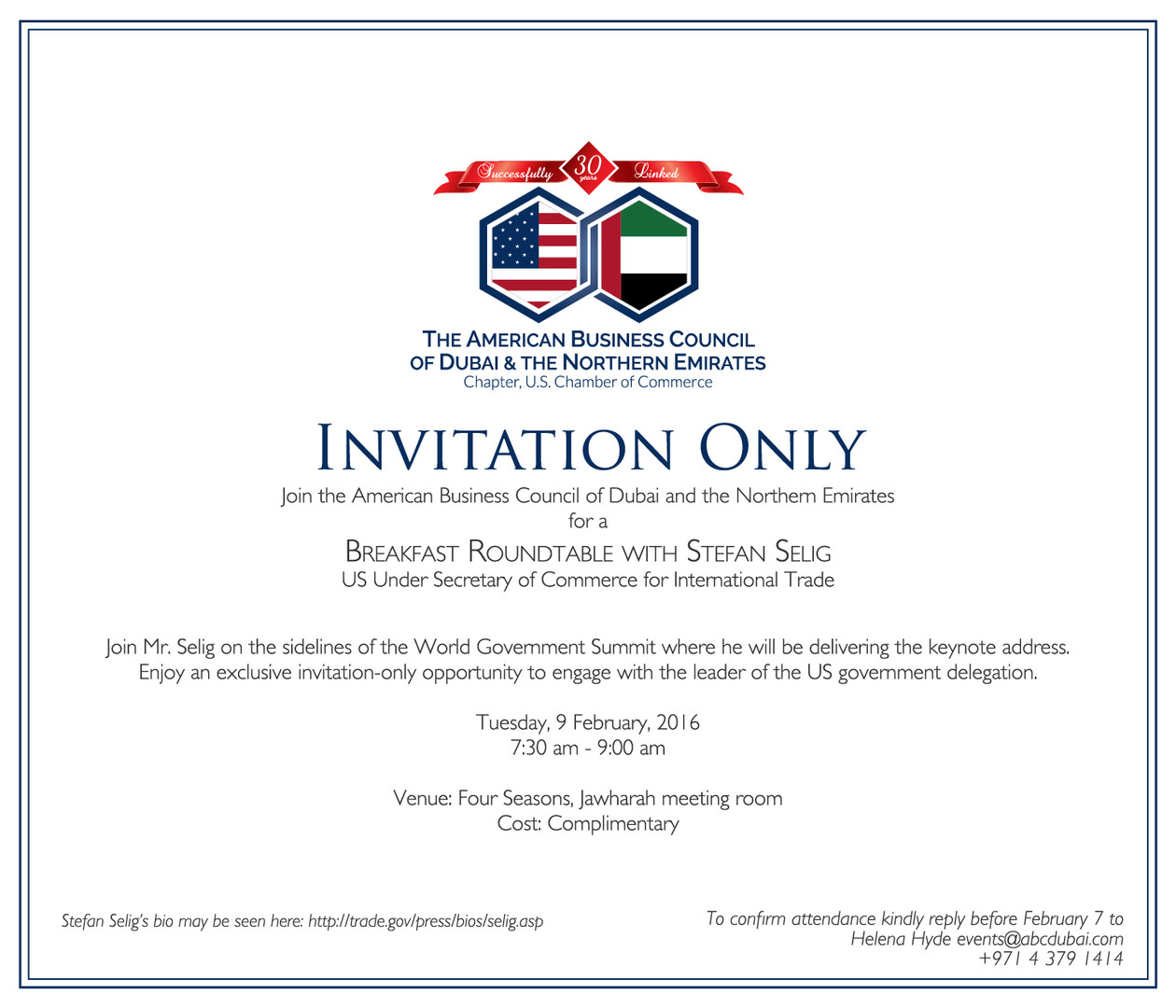 American Business Council Invitation