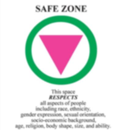 Safe Zone Safe Space Genderless pricing inclusive restrooms