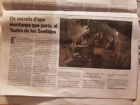 Els secrets d'una muntanya que parla, al Teatro de los Sentidos