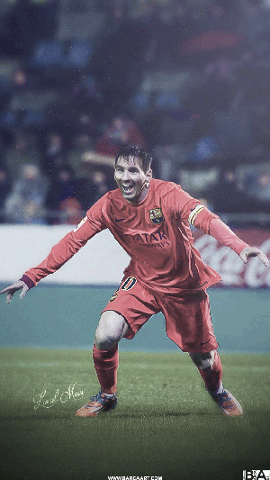 Messi simple celebration wallpaper
