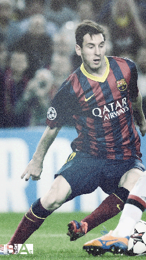 Messi simple grainy wallpaper