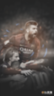 Pique celebrating goal with team wallpaper