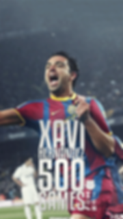 Xavi 500 games wallpaper