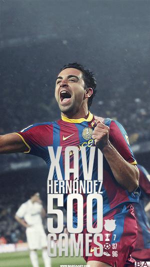 Xavi 500 games wallpaper