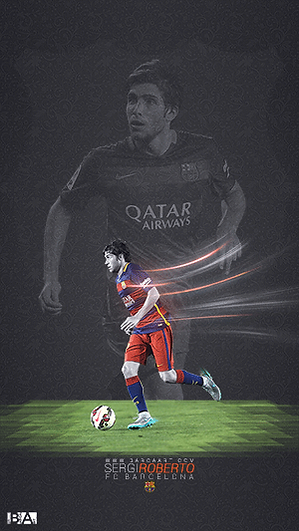 Sergi Roberto tile wallpaper