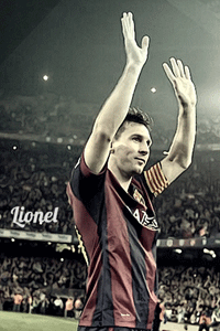 Messi Standing Ovation wallpaper