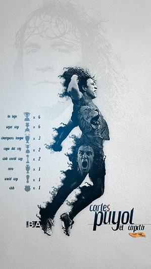Carles Puyol career trophies wallpaper