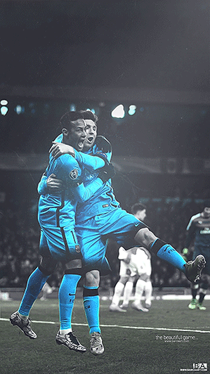 Messi and Neymar celebration wallpaper