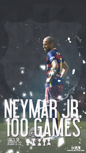 Neymar 100 games with Barcelona wallpaper