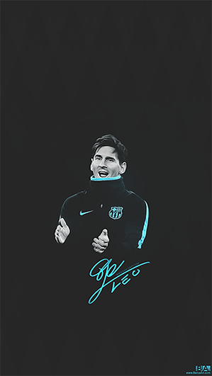 Leo Messi black training wallpaper